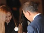 Seohyun SNSD Bertemu Dengan Sekretaris Jenderal PBB
